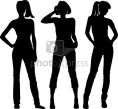 Human Figure Silhouette | body silhouette girl stock photo