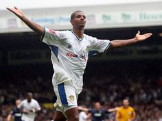 In the lean & depressing years of League One few Leeds United players shone, but Jermaine Beckford was one of those few. Often maligned for being lazy the fact is he knew where the goal was, and 80 odd goals in three seasons confirms that fact Leeds United Players, Leeds United Football, Leeds United Fc, Great Team, Depressing, Football Jerseys, Peacocks, Don't Care, Lazy