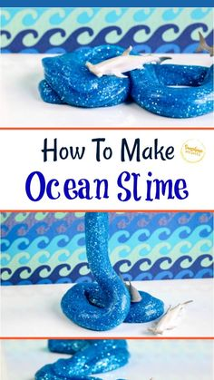 Fun Activities For Kids, Fun Crafts For Kids, Art For Kids, Playing With Slime, Edible Slime, Slime For Kids, Family Fun Night, Ocean Crafts, Slime Recipe