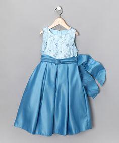 Ocean Blue Belted Dress -