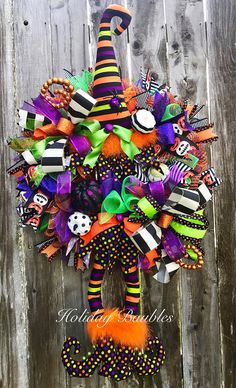 Halloween Wreath Witch Wreath Whimiscal Witch Wreath