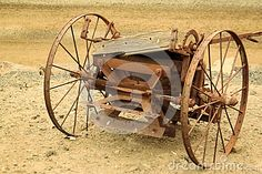 An old piece of farming equipment.