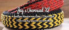 Jag's Uncrossed XL Paracord Bracelet Instructions, Paracord Tutorial, Paracord Braids, Paracord Bracelets, Color Explosion, Swiss Paracord, Knot Braid, Collar And Leash, Dog Collars