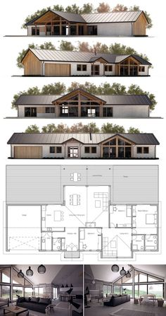Farmhouse, Single story home plan