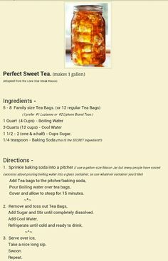 Perfect sweet tea with secret ingredient!