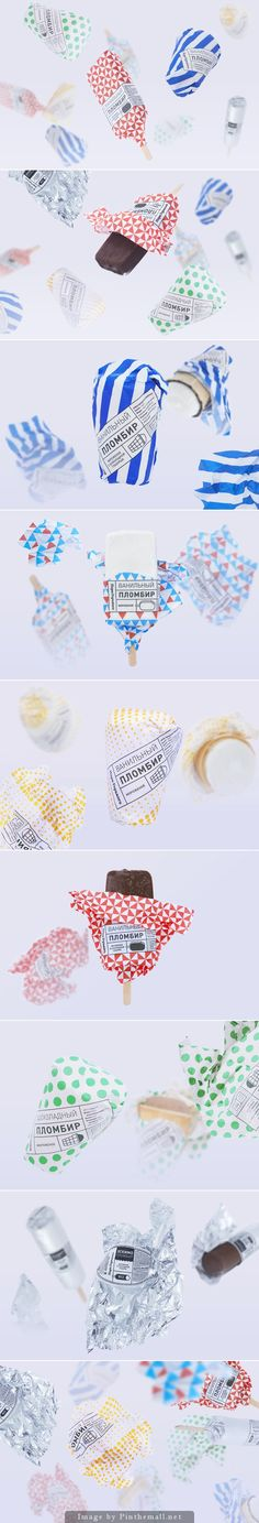 Gorky Park Icecream by Anastasia Genkina. Great ice cream packaging is always…