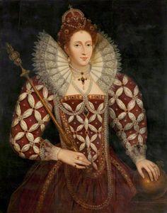 Portrait of Queen Elizabeth I of England by Federico Zuccaro (Italian, Mode Renaissance, Costume Renaissance, Renaissance Clothing, Elizabethan Fashion, Elizabethan Era, Elizabeth Bathory, Tudor History, British History, 16th Century Fashion