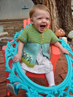 Free Knitting Pattern - Toddler & Children's Clothes: Cloverfield Short-Sleeved Cardigan