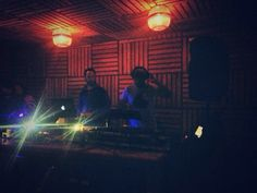 Playing at La Bipolar Mexico City with my friend