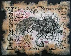 YOG SOTHOTH cthulhu larp necronomicon magick occult horror. $10.00, via Etsy.