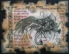 YOG SOTHOTH cthulhu larp necronomicon magick occult horror. $10.00, via Etsy.