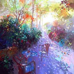 Laurent Parcelier French Artist. Terraces ~ Blog of an Art Admirer
