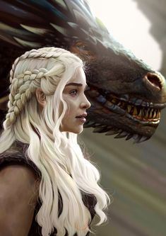 Mother of Dragons Related Post Daenerys Targaryen: Mother of Dragons, Queen of Me. Daenerys Targaryen (Emilia Clarke) and Drogon from. Art Game Of Thrones, Dessin Game Of Thrones, Game Of Thrones Dragons, Game Of Thrones Quotes, Drogon Game Of Thrones, Game Of Thrones Characters, Daenerys Targaryen, Khaleesi, Dr Destino
