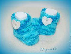 Купить Пинетки вязаные для малыша - синий, пинетки, пинетки вязаные, пинетки в подарок, пинетки для новорожденных