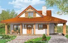 Projekt Czapla to niezwykły dom. Jest tak uroczy i oryginalny, że trudno jest na niego nie zwrócić uwagi. Budynek zaprojektowany został w technologii szkieletowej drewnianej. Dom przeznaczony jest dla rodziny 4-5cio osobowej. Dom ma rozległy rzut parteru i mniejsze poddasze użytkowe. Otoczony jest bocznymi daszkami, werandami, podcieniami i wiatami.