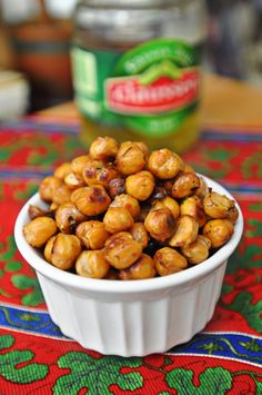 Dill Pickle Roasted Chickpeas - two of my favorite things together in one delicious sounding snack:-)