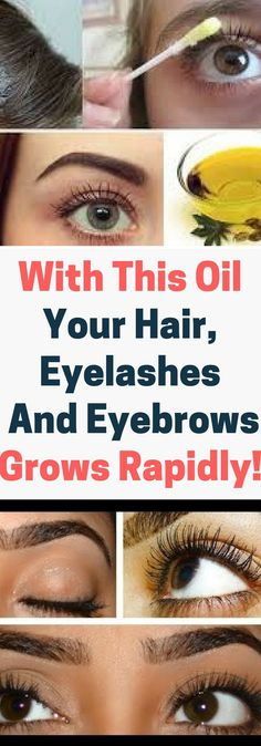 With This Oil Your Hair, Eyelashes And Eyebrows Grows Rapidly..!!!!