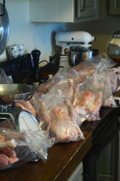While it may seem like an overwhelming task, The Elliott Homestead shows you an easy step-by-step way to butcher a chicken. - I'm more of a pet chicken person, but just in case. Keeping Chickens, Raising Chickens, Pet Chickens, Chickens Backyard, Homestead Farm, Farms Living, Chicken Eggs, Hobby Farms, Small Farm