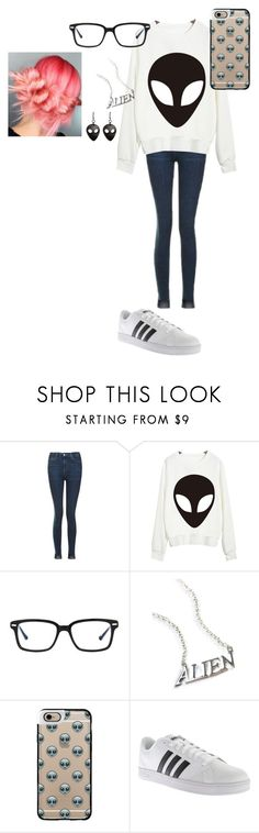 """""""Alien"""" by sparklequeen2345 ❤ liked on Polyvore featuring Topshop, Chicnova Fashion, Original Penguin, Disturbia, Casetify and adidas"""
