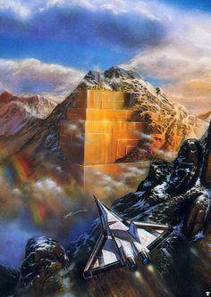 Retro sci-fi rainbows.