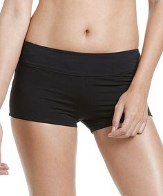 bbe8cd3133fbc Black Banded Swim Shorts - Women by Cole of California