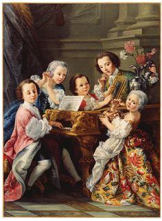 Portrait of the young princes Marescotti of Parrano / Ritratto dei Principini Marescotti di Parrano, di Sebastiano Ceccarini…Dal libro di Claudio Giardini