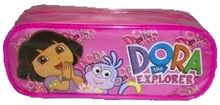 Dora the Explorer Plastic Pencil Case Pencil Box - Hot Pink