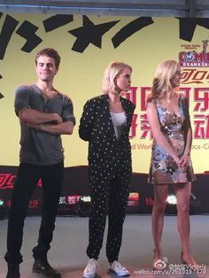 Claire Holt and Paul Wesley  and Candice Accola in China for Day 2 for #WizardWorldFansTangComicCon  (05/30/15)