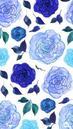FREE-DOWNLOADABLE-DIGITAL-iPHONE-WALLPAPERS-_-Blue-Painted-Flowers-_-thinkmakeshareblog.jpg 750×1.334 pixels