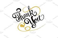 Thank You Lettering. Script Fonts
