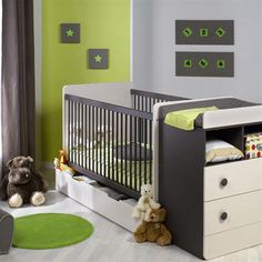 I like this picture on Deco fr! Baby Bedroom, Marceline, Cribs, Toddler Bed, Baby Boy, Pictures, Photos, Furniture, Home