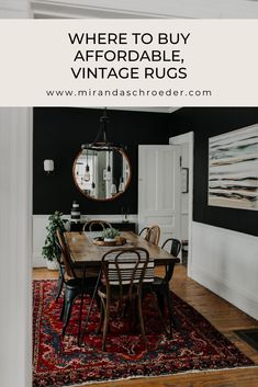 I've been buying, collecting and selling handmade rugs for about 5 years now. They hold a special place in my heart! Vintage rugs add the perfect amount of collected and cozy to every room. There are so many places to find vintage rugs, but here are my favorites!  | Vintage | Home Decor | Rugs |