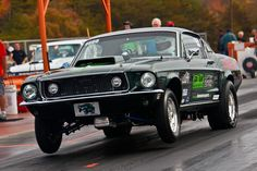 Dan and Amanda's Mustang Fastback GT show car turned race car.