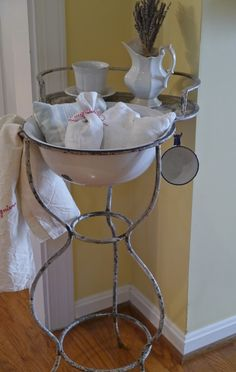 Chateau Chic: French Wash Stand with its own little shelf