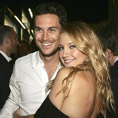 Picture of Oliver Hudson and Kate Hudson. Did not know they were brother and sister. Like them both.