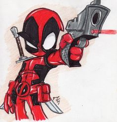 View Gallery With 39 Chibi Deadpool Drawing Images