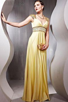 Attractive Princess A-line Empire Floor-length Evening Prom Dress