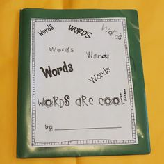 Vocabulary Books- use these instead of or with the vocab words for HW each week. I wonder just how many words the average first grader learns in a year? :)