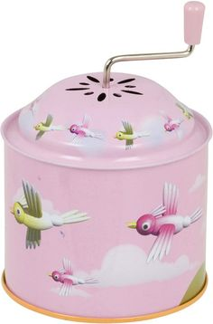 tin music boxes I love.and collect so many different types.some imported some cheap. Pink Love, Pretty In Pink, Pink And Green, Vintage Tins, Vintage Love, Antique Music Box, Vintage Music, Music Jewelry, Pretty Box