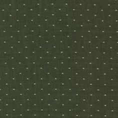 Robert Kaufman House Designer - Cotton Chambray Dots - Chambray Dots in Olive