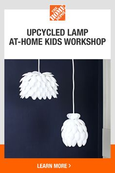 Create a DIY upcycled lamp. Use this guide to repurpose materials into a decorative treasure in your home. Paper Flowers Craft, Quilling Paper Craft, Flower Crafts, Paper Crafts, Cardboard Crafts, Fun Diy Crafts, Upcycled Crafts, Crafts For Kids, Light Bulb Crafts