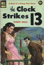 The Clock Strikes 13 by Herbert Brean GGA Horror Vintage Paperback VG+