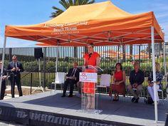 H.S.H. Princess Charlene of Monaco in Santa Monica, CA, during the presentation of her Foundation