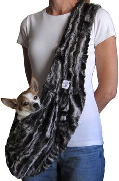 Faux Fur Dog Sling by on Etsy Dog Sling, Dog Carrier, Pet Carriers, Black Marble, Yorkshire Terrier, Beautiful Dogs, Yorkie, Faux Fur, Pure Products