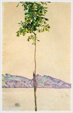 """ Egon Schiele Little Tree (Chesnut Tree at Lake Constance)…"
