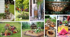 These ideas will lighten up your entire outdoor area. From yards and terraces to patios and porches, these easy decorating ideas can work for any spot you have big plans for beautifying. Diy Garden Projects, Garden Crafts, Garden Ideas, Willow Furniture, Garden Whimsy, Garden Soil, Flower Planters, Yard Art, Beautiful