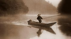 THE LONE FISHERMAN -- Angling in the Morning Mist of Old Japan | Flickr - Photo Sharing!