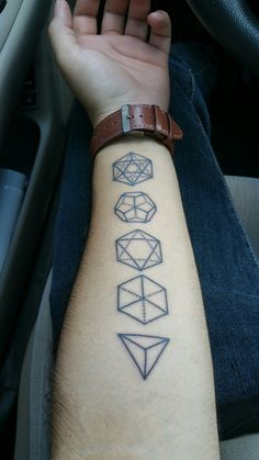 Image result for five platonic solids tattoo