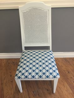 Beautiful reupholstered chairs. In Alabaster white