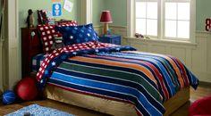 Target Stars & Stripes Bedding & Benjamin Moore green bean paint